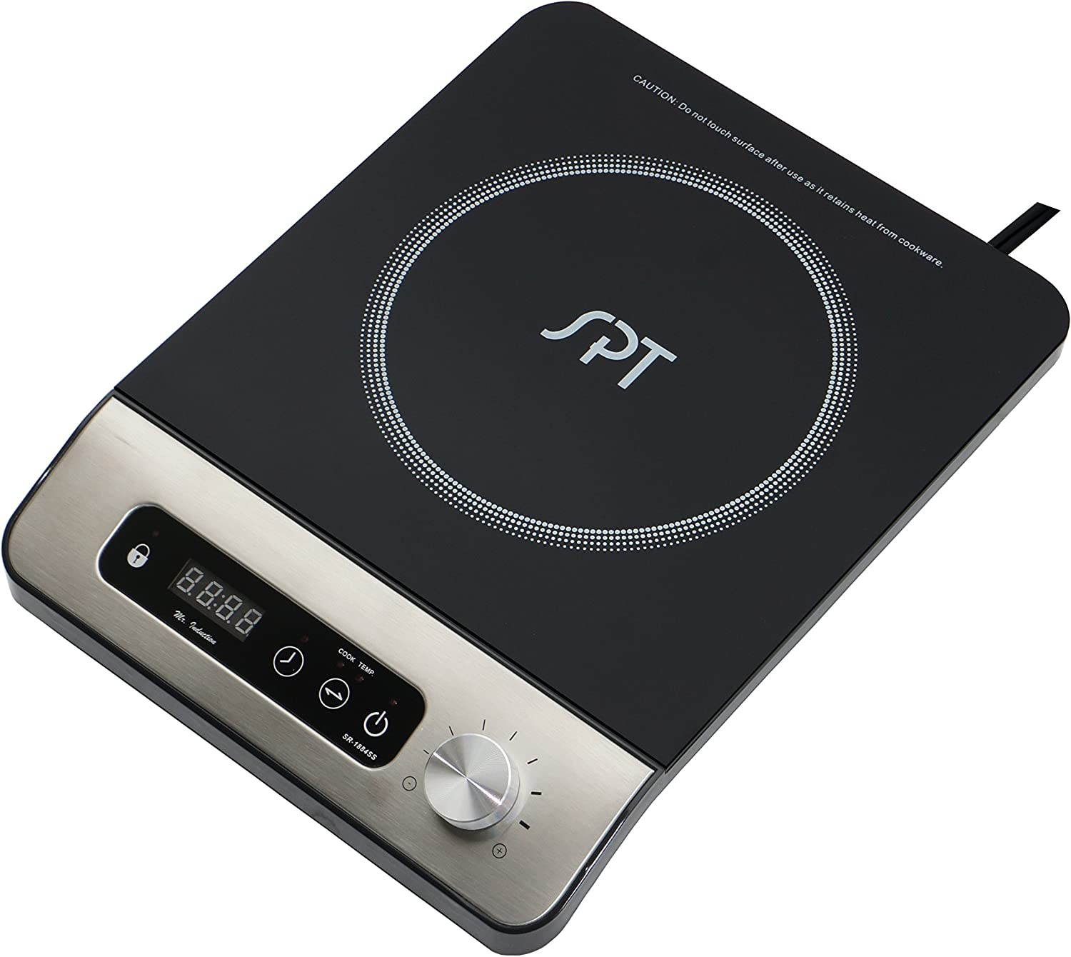 Amazon.com: SPT sr-1884ss 1650 W Induction Cooktop con botón ...