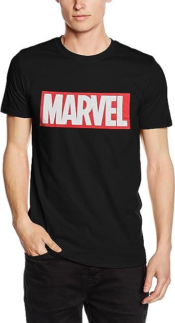 Marvel Herren Comics-Core Logo-Mens T-Shirt