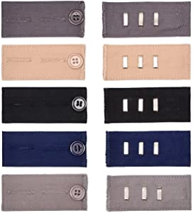 2 Types of Waist Extenders for Suit Trousers, 10 - Pack