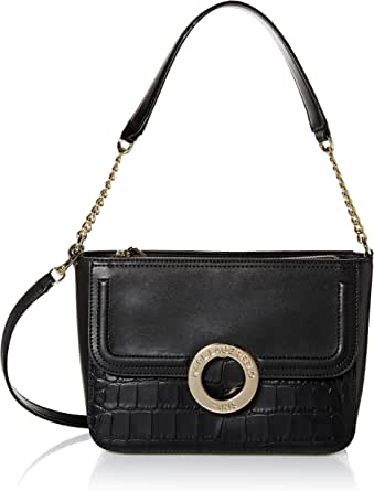 Karl Lagerfeld Paris womens Clarise Croco Shoulder Bag