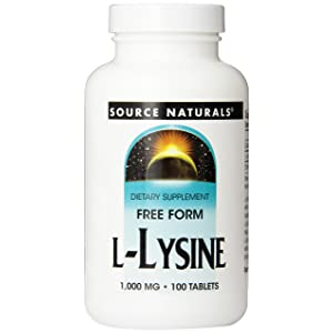 Source Naturals L-Lysine 1000 mg, Essential Free-Form Amino Acid