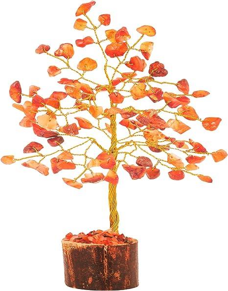 Mina Heal Crystal Gem Money Tree for Chakra Healing Feng Shui Fortune Good Luck Wealth /& Prosperity