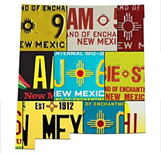 product image for NEW MEXICO License Plate Vintage Aluminum Map Sign, LAND OF ENCHANTMENT State Metal Sign Garage Art Man Cave Plasma Cut Aluminum UV Printed Rustic Sign Birthday Gift Patriotic Sign Holiday Gift