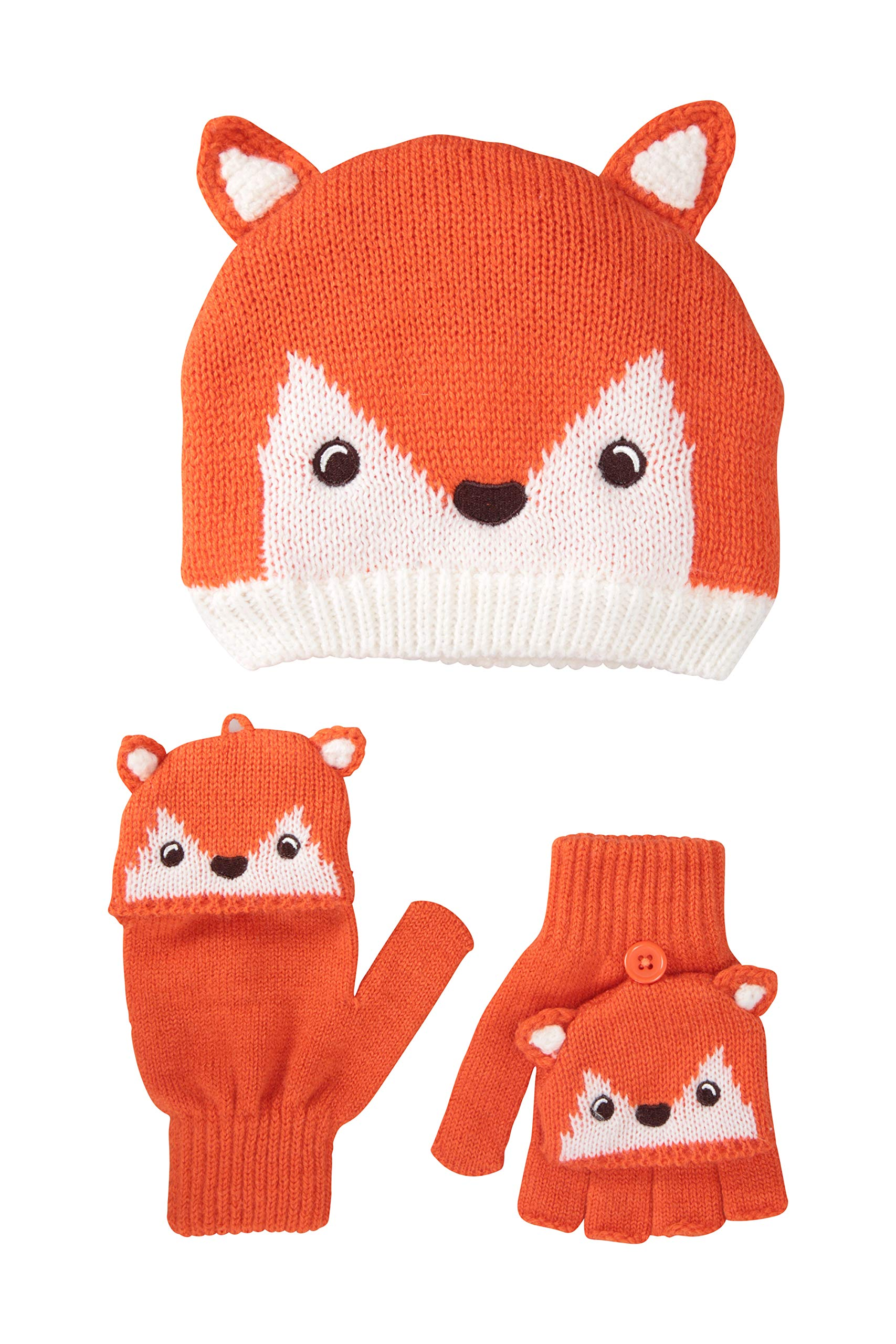 Mountain Warehouse Fox Knitted Kids Hat White