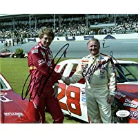 $124 » BILL ELLIOTT+CALE YARBOROUGH HAND SIGNED 8x10 PHOTO RACING LEGENDS JSA - Autographed NASCAR Photos