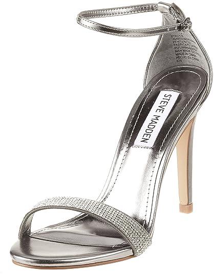 8875e59e7a0 Steve Madden Women 91000550-0S0 Ankle-Strap Silver Size  7 UK ...