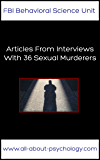 Articles From Interviews With 36 Sexual Murderers