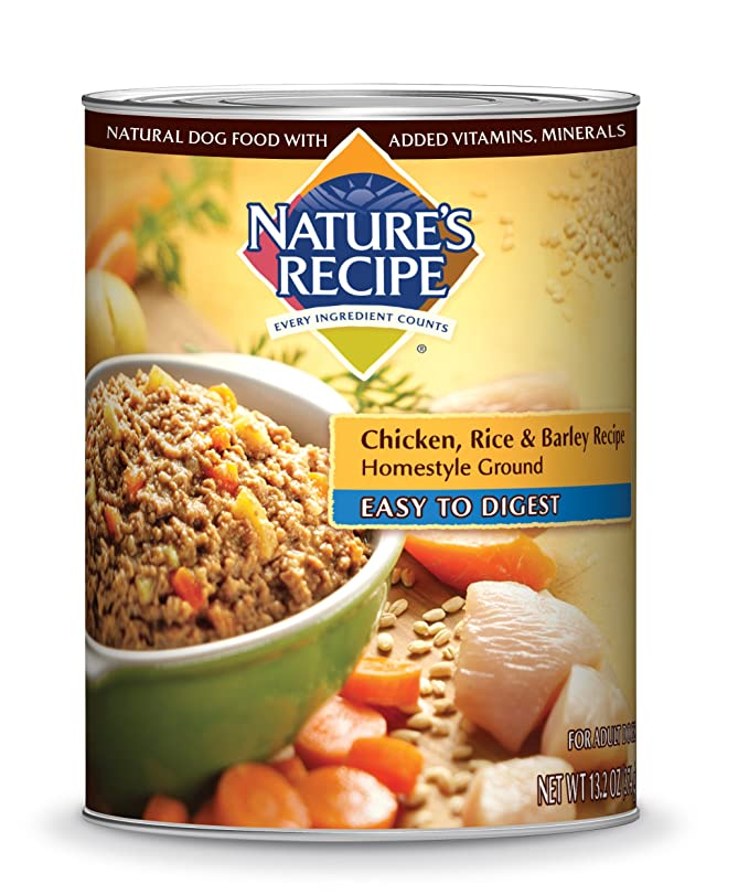 Natures recipe canned dog food for adult dog easy to digest natures recipe canned dog food for adult dog easy to digest chicken rice and barley recipe homestyle ground 132 ounce cans pack of 12 canned wet forumfinder Choice Image