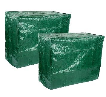 GWUK Juego de 2 cubiertas para barbacoa de jardín de alta calidad – protección resistente para