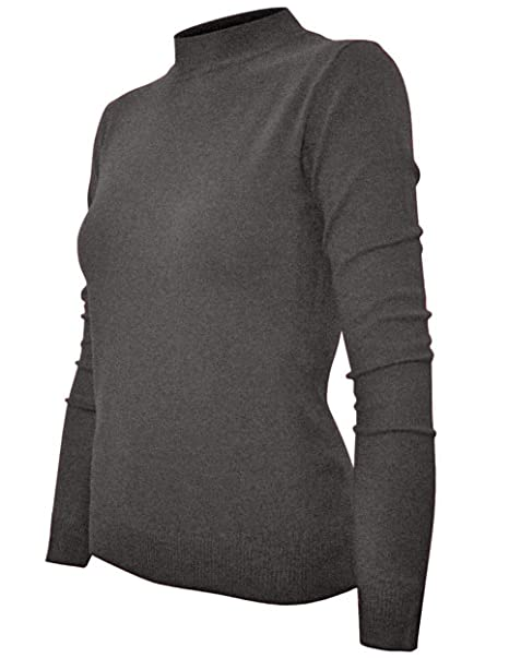 3a91b049b6f089 Ollie Arnes Womens Everyday Soft Comfy Longsleeve Mock Turtleneck Basic Top  410 Charcoal S