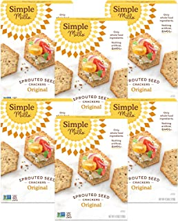 product image for Simple Mills Original Gluten Free Sprouted Seed Crackers with Chia Seeds, Hemp Seeds, Sunflower Seeds, Flax Seeds, and Sunflower Oil, Made with whole foods, 6 Count (Packaging May Vary)