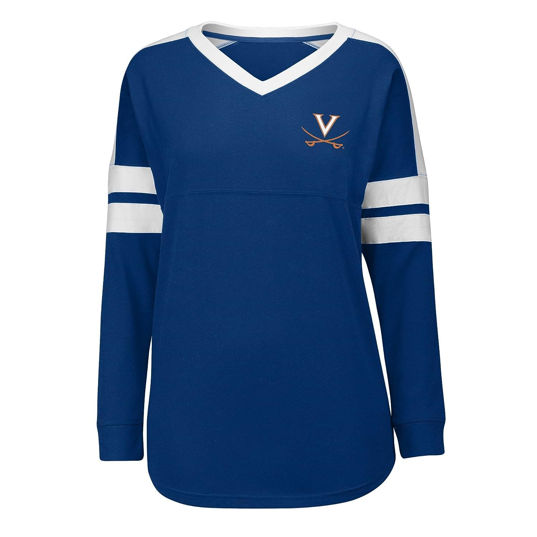 Navy//White Small J America NCAA Virginia Cavaliers Womens Gotta Have It Cheer Tee