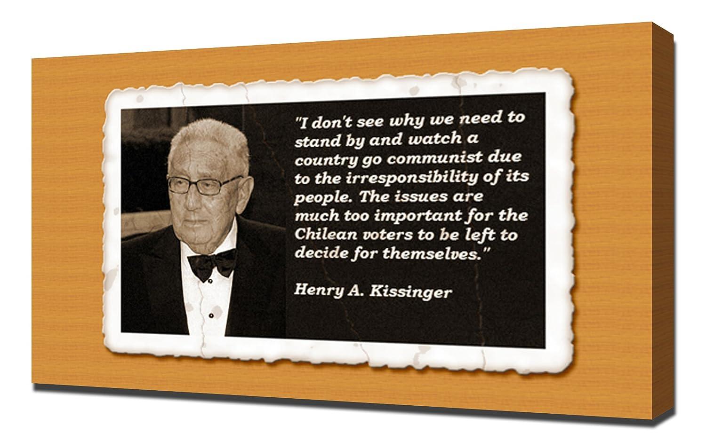 Amazoncom Henry A Kissinger Quotes 3 Canvas Art Print