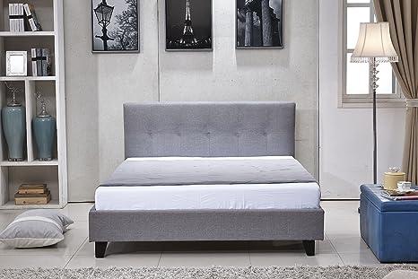 Auckland moderno tessuto a letto matrimoniale/king size slitta + ...