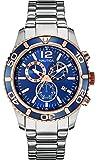 Nautica - NAI18500G - Montre Homme - Quartz Analogique - Cadran Bleu - Bracelet Acier Argent