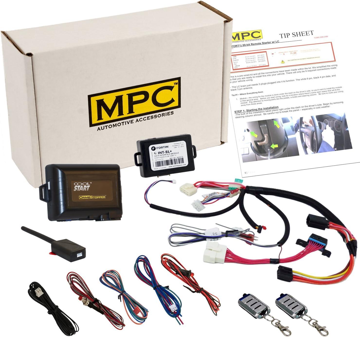 Amazon Com Mpc Plug N Play Remote Start Keyless Entry Kit For Sierra Silverado 2003 2007 Classic Prewired T Harness Firmware Preloaded Simple Installation Automotive
