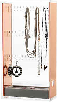 Moosy Life Rose Gold Acrylic Jewelry Organizer Box