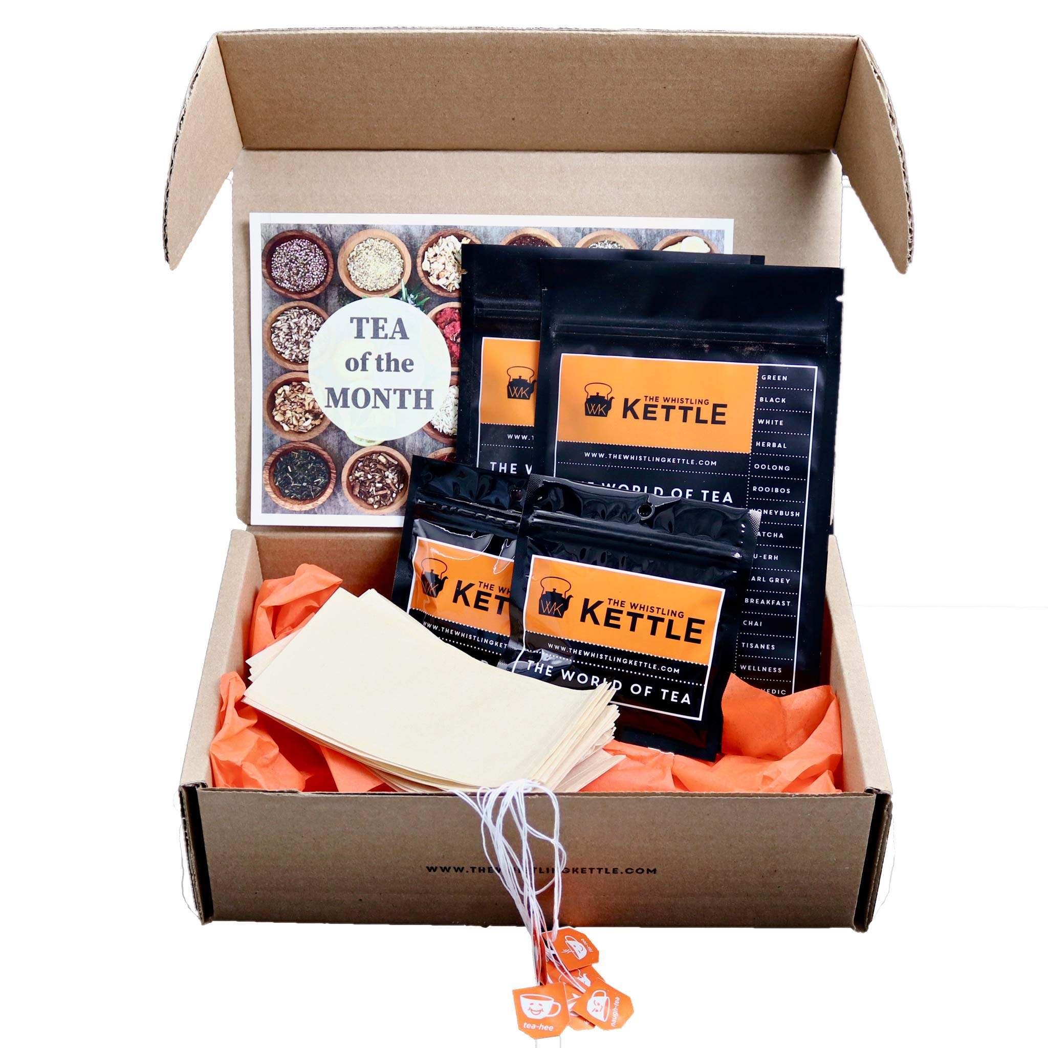 Adventure Edition - (6) Month Tea of the Month Club Subscription Box - Assorted Loose Leaf Teas - Tea Lover Gift Sampler Box by WK The Whistling Kettle (Image #2)