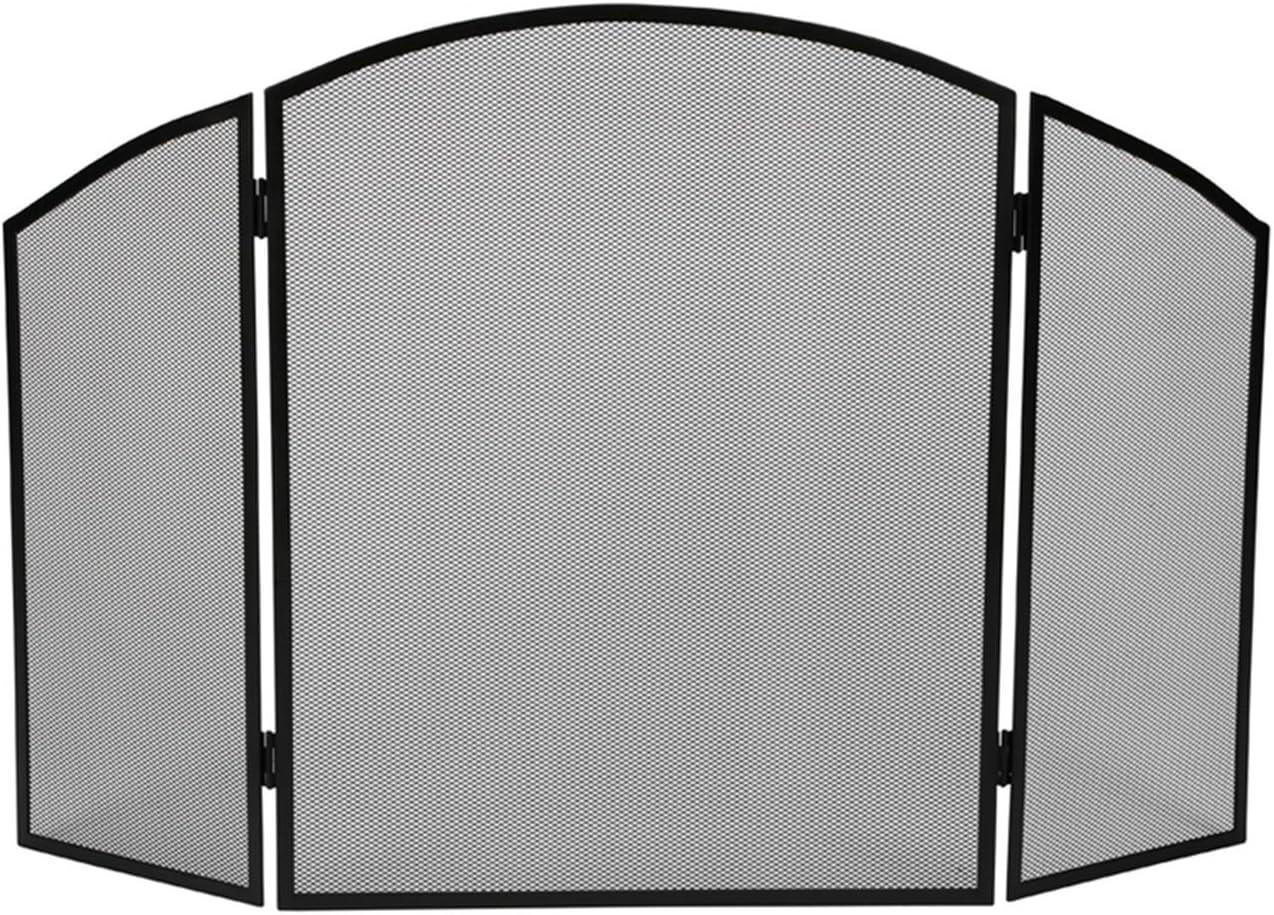 Velleman BB50110 177253 - Rejilla de protección para Chimenea (94 x 61 cm, Metal), Color Negro