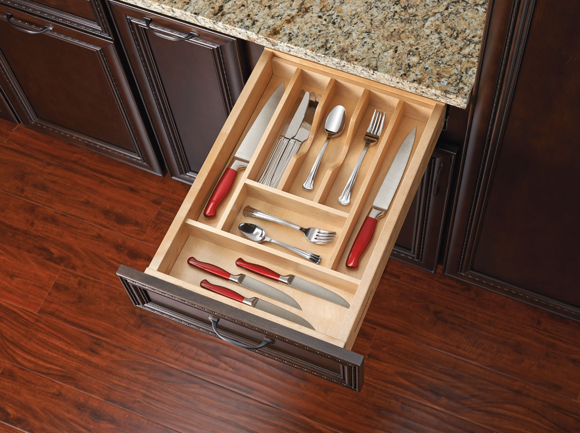 Rev-A-Shelf 4WCT-1SH - 2-3/8 in. Small Wood Cutlery Drawer Insert
