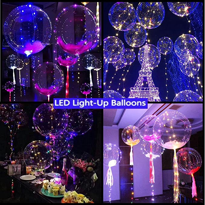 10x Schalter Ballon LED Leucht Lampen DIY Bar Weihnachten Hochzeit Party Decor