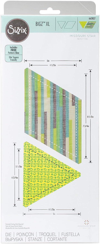 Sizzix Bigz XL Stanzschablone-Raute mit Dreieck von Missouri Star Quilt Co, Plastik, Holz, Stahl, Multicolour, 37.6 x 15.3 x 2 cm Ellison 662027