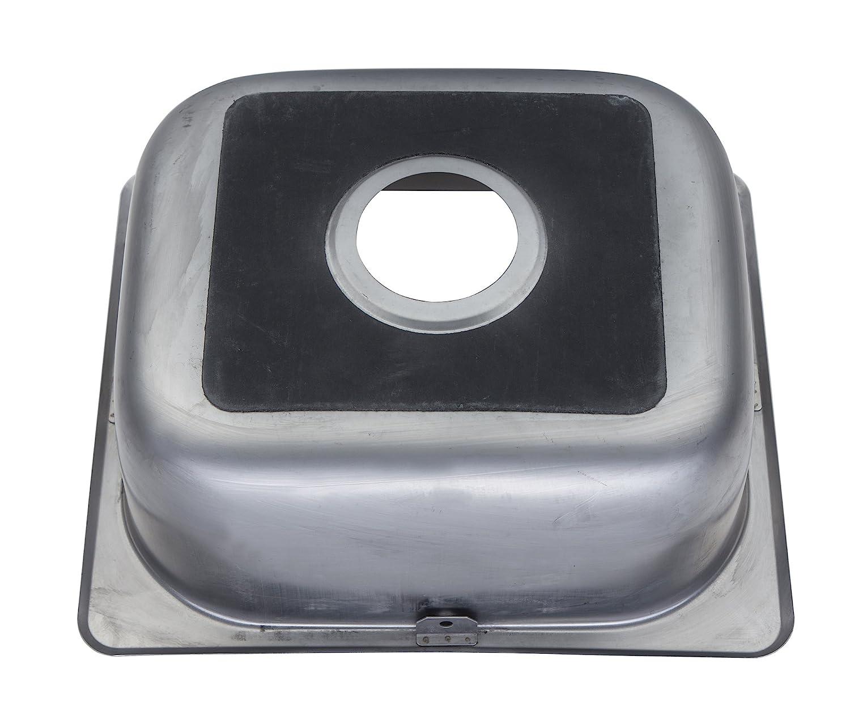 Petit einbausp/ülbecken cuisine en acier inox de 42 cm x 36.3 dEA11 bs