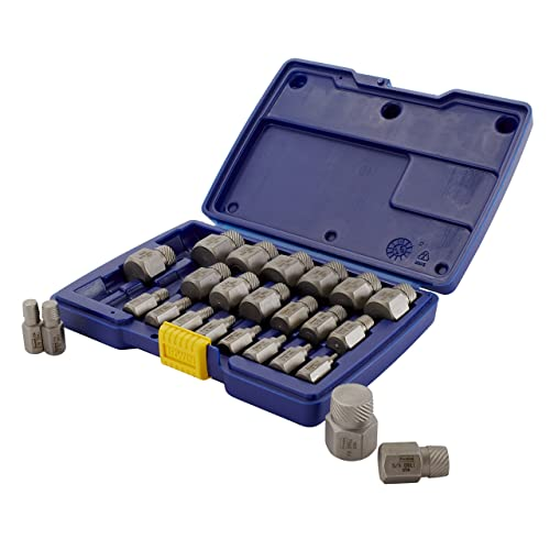 Irwin Tools Hanson 53227 Hex Head Multi-Spline Screw Extractor Set, 25 Piece