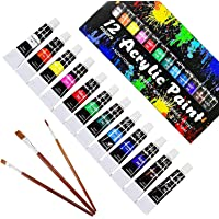 Acrylic Paint set, 24x12ml Tubes Artist Quality oil Acrylic paints water color Non Toxic vibrant colors, Oil paint…