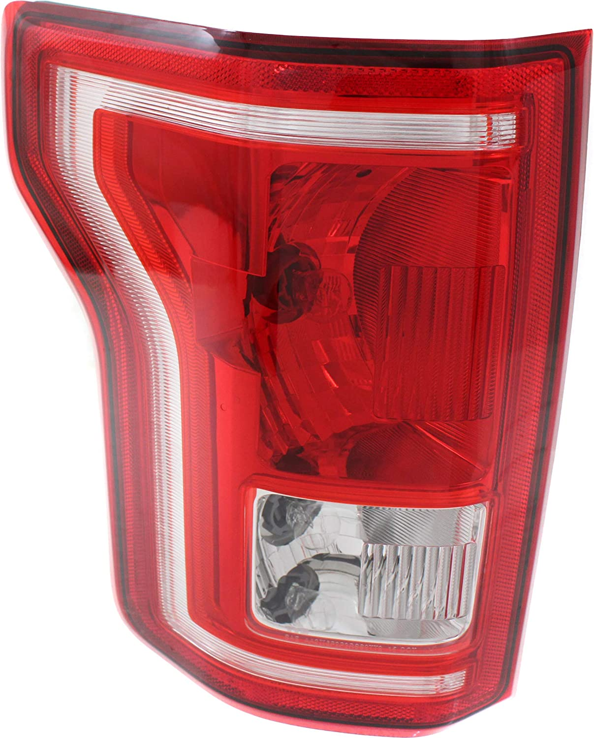 CAPA Driver and Passenger Side Tail Light Assembly Compatible with 2015-2017 Ford F-150 Halogen All Cab Types