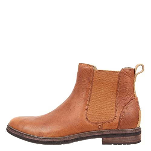 c4155a0b9ec UGG Australia Leif Men's Casual Leather Chelsea Boots (Chestnut, 8 ...
