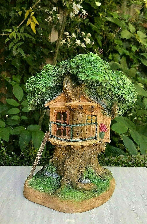 Amazon Com Miniature Mini Fairy Garden Gnome 8 5 Tan Tree