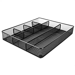 AmazonBasics Mesh Drawer Organizer, Black
