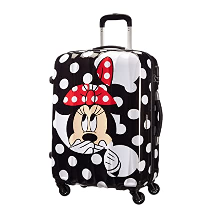 American Tourister - Disney Legends Spinner Maletas y Trolleys, M (65 cm -52 litros), Multicolor (Minnie Dots)