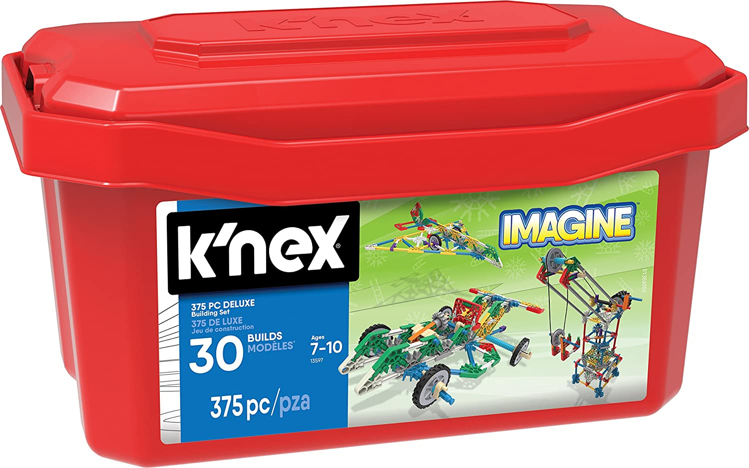 Amazon.com: K'NEX - Deluxe Building Set – 375 Pieces – For Ages 7+  Construction Education Toy: Toys & Games