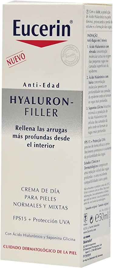 Oferta amazon: Eucerin Hyaluron-Filler Crema de Día para Piel Normal y Mixta - 50 ml