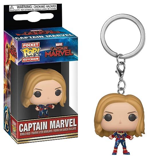Amazon.com: Funko Pop! Keychain Marvel: Captain Marvel ...
