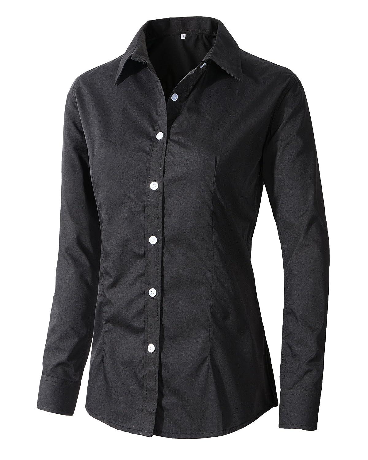 Women\'s Formal Work Wear Simple Button Down Shirt