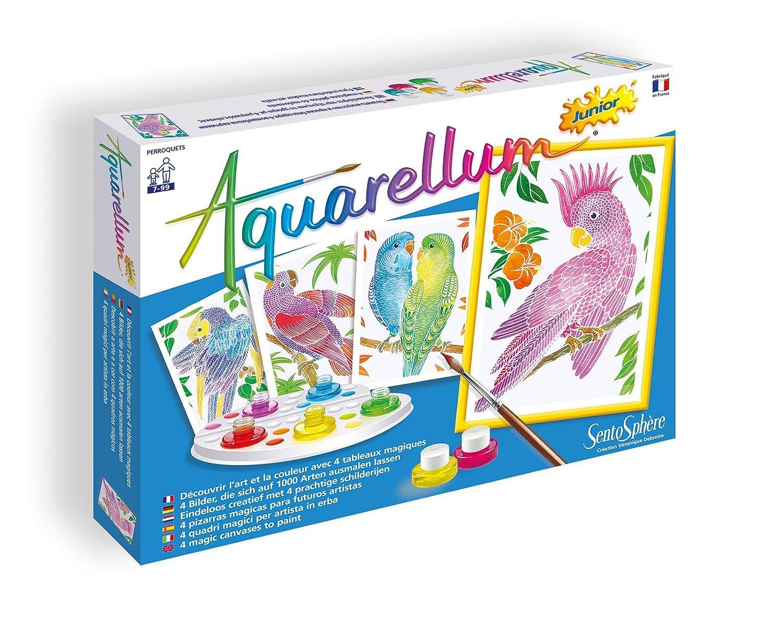 Sentosph/ère 3900654 Aquarellum Junior Parrots Painting Set