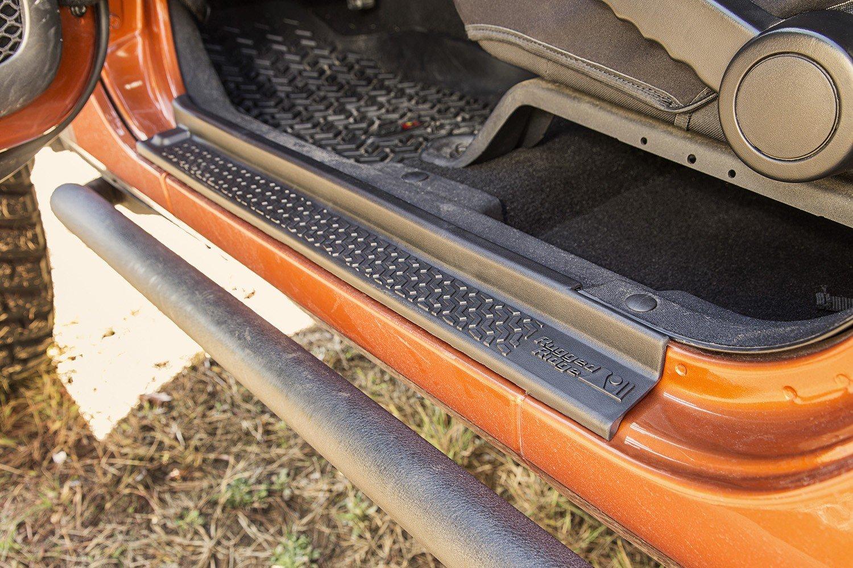Rugged Ridge 11216.21 Black Entry Guard Kit All Terrain; 07-16 Jeep Wrangler JKU Unlimited