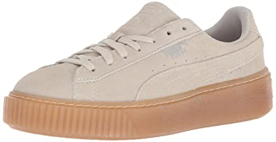 1545cf4423a2 PUMA Girls  Suede Platform Jewel Sneaker