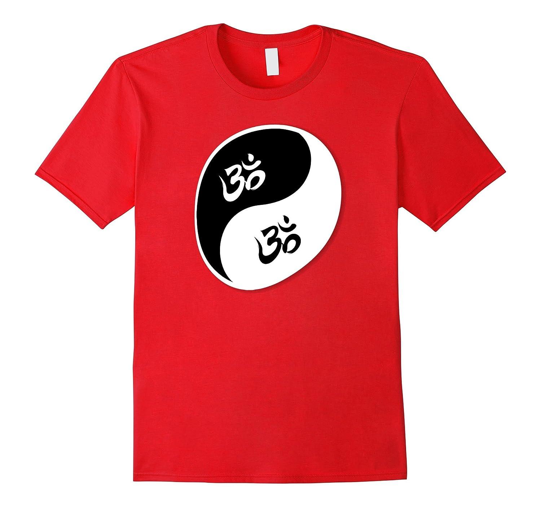 Yin Yang with Om Symbols Tee Shirt-CL
