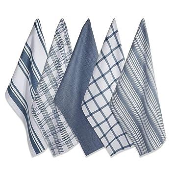 DII Kitchen Dish Towels (Stone Blue, 18x28\
