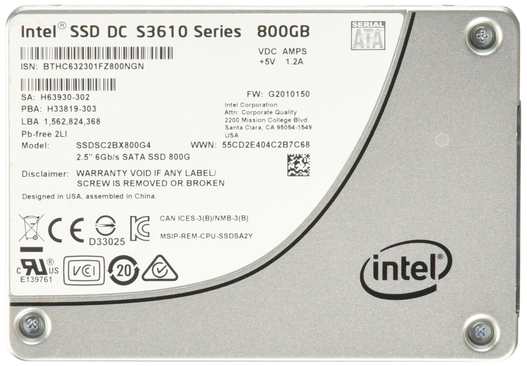 SSD 1.6TB SATA Intel DC S3610 | SC2BX016T401 | 1.6TB 6Gb/s M
