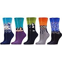 WeciBor Calcetines Estampados de las Mujeres, Mujeres Ocasionales Calcetines Divertidos…