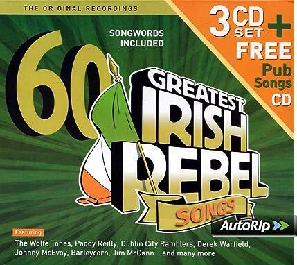 60 Greatest Irish Rebel Songs Amazoncouk Music