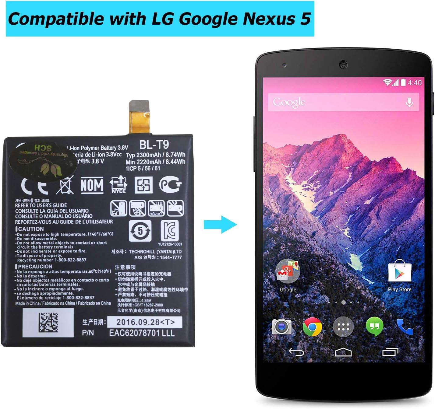 Upplus BL-T9 - Batería de Repuesto para LG Google Nexus 5 LG D820 ...