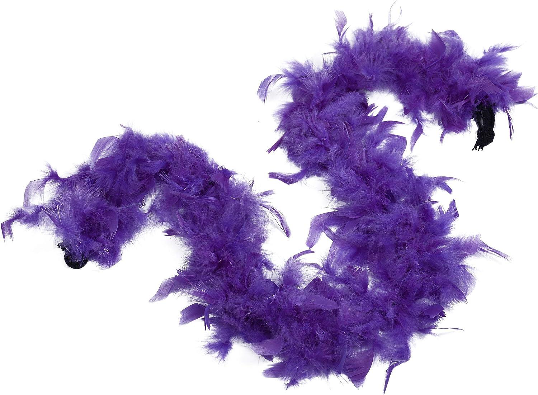 Ws/&Wt 1.2m 18g 5pcs Turkey Chandelle Feather Boa in Bulk Girls Princess Party Dress up Halloween Costume Boa