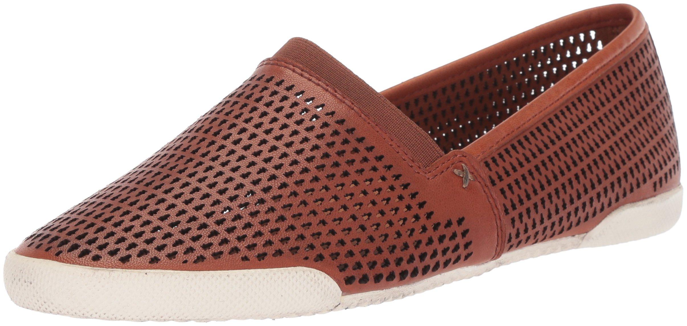 FRYE Women's Melanie Perf Slip On Sneaker, Cognac, 6.5 M US