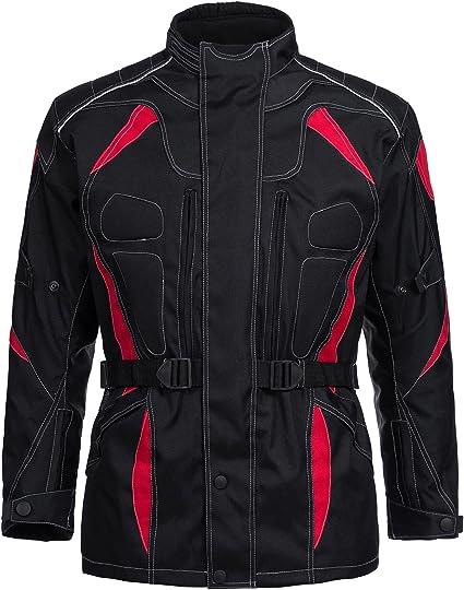 Quad Motorradjacke Herren Textil mit Protektoren Touring Wasserabweisend Winddicht Biker Custom Sport und Freizeit Jacke Schwarz